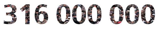 316 000 000 tonų sveria visa žmonija