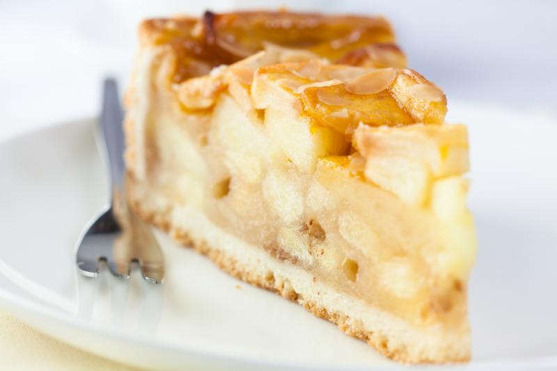 Obuolių pyragas be miltų